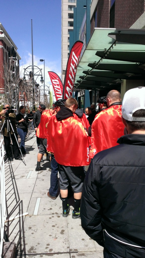 Specialized made us wear capes. And to be honest, I did feel like Superman.
