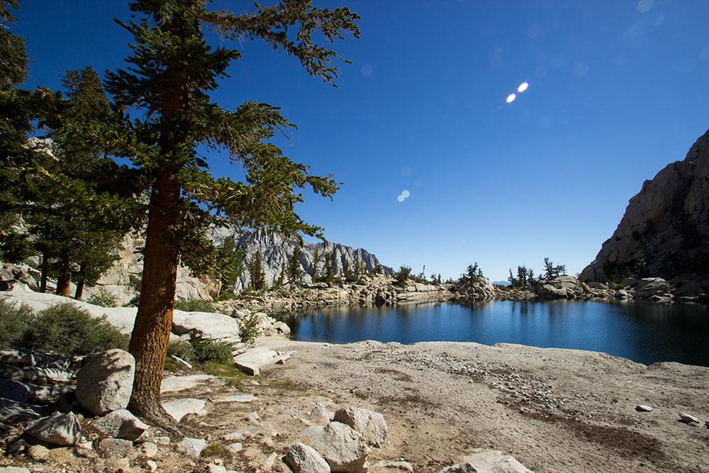 Lone Pine Lake, just below 10,000 feet.